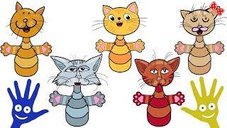 Песни для Детей. Finger Family Cat Song. Daddy Finger. Развивающие Мультики. Детские Песенки