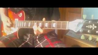Accept - Beat The Bastards - Vintage V100 - guitar cover (lead guitar)