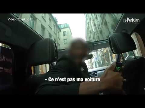 Paris taxi driver trying to scam his passengers