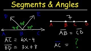 Addition and Subtraction Property of Equality - Segments & Angles - Geometry Practice Problems