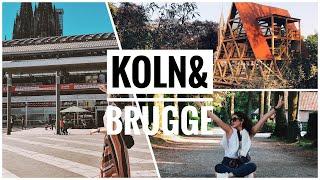 Az konuşmalı Vlog | Köln& Brugge | Çok yürüdük çok