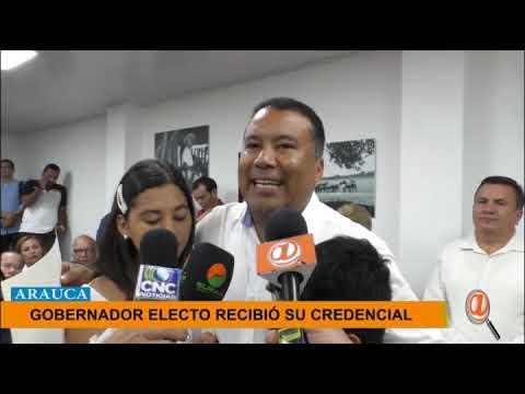 GOBERNADOR ELECTO DE ARAUCA, FACUNDO CASTILLO RECIBIÓ SU CREDENCIAL
