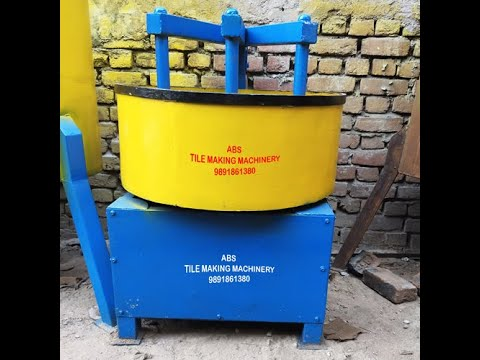 Round Pan Mixer, Capacity: 1 Bag Capacity