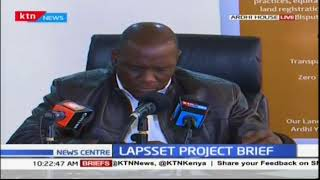 Laps-set project briefing on the construction of Lamu, Garissa road