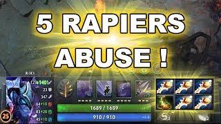 RIKI with 5 RAPIERS - Dota 2 Trick Abuse!