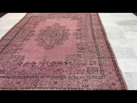 Vintage teppich rosa 12169