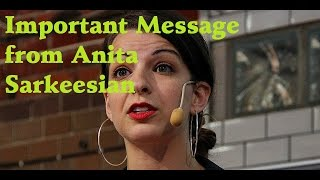 Important Message From Anita Sarkeesian #gamergate #sjw #notyourshield