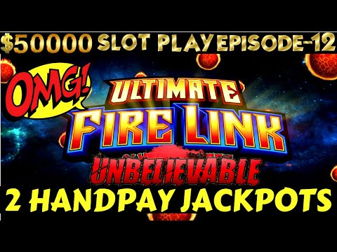2 HANDPAYS ! High Limit Ultimate Fire Link Slot Machine MASSIVE HANDPAY JACKPOT | SE 6 | EPISODE #12