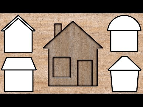 Wrong Wooden Slots with House Building - Coloring for Kids (feat Finger Family Song)