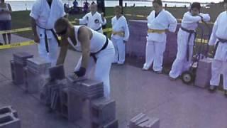 Sensei Billie O'Keefe breaks 150 bricks