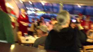 NORPAC SANTAS Flash Mob
