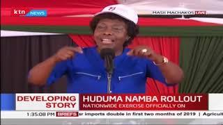HUDUMA NAMBA ROLLOUT: Governors Ngilu, Kibwana on Huduma Namba registration