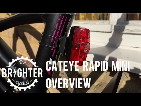 Cateye Rapid Mini Commuter Rear Bike Light Overview
