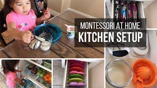 MONTESSORI AT HOME: Toddler Kitchen Setup