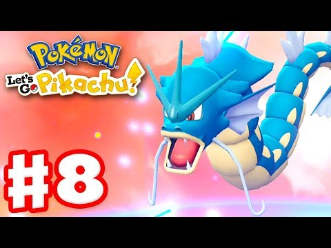 Pokemon Let's Go Pikachu and Eevee – Gameplay Walkthrough Part 8 – Gyarados Evolution!