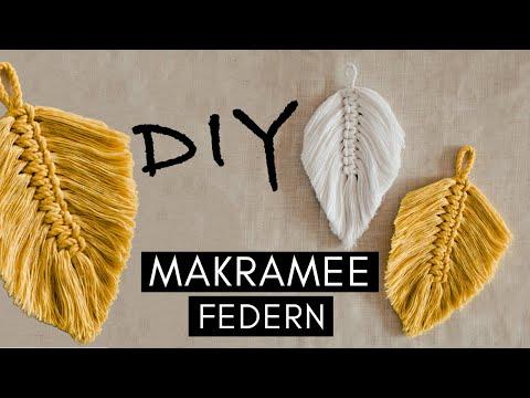 DIY BOHO Makramee Federn selber knüpfen - Anleitung