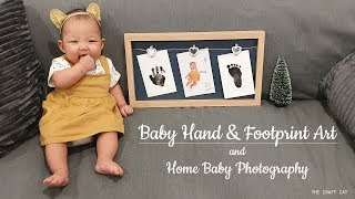 Baby Hand & Footprint Art And Home Baby Photography