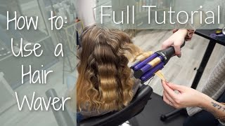 How To: Use a HAIR WAVER 3 Barrel Curling Iron