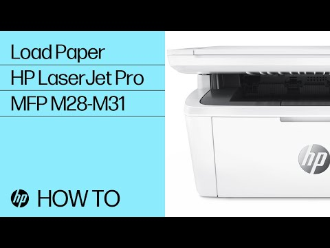 How to Load Paper in HP LaserJet Pro MFP M28-M31 Printers