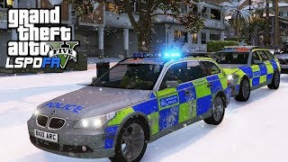 POLICE SNOW PATROL & PURSUITS! - GTA 5 LSPDFR - The British way #112