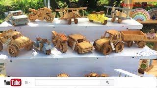 Машинки из дерева ручной работы / Handmade wooden cars