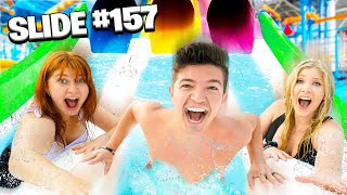 Riding EVERY Slide in a WATER PARK for $1,000 Challenge!