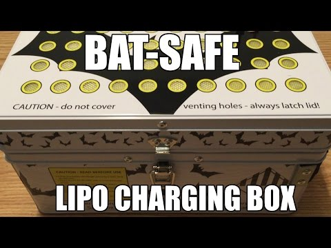 """Bat-Safe"" Lipo Battery Charging Safe Box"