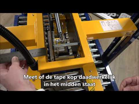 CT 103 SD: Tape kop uitlijnen