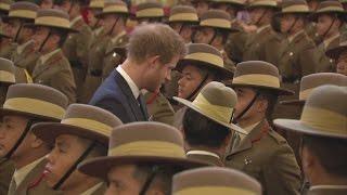 Charles and Harry honour Gurkhas at Buckingham Palace