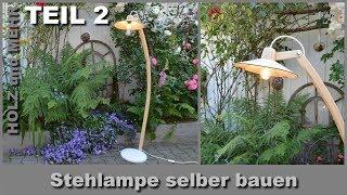 Stehlampe selber bauen DIY . Installation der Elektrik