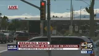Davis-Monthan Air Force Base on lockdown