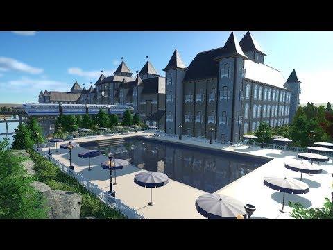 Let's Play Planet Coaster - Globe Explorer Episode 25 - Hotel Details & Swimming Pool