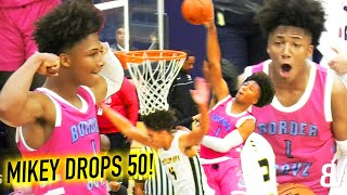 Mikey Williams DROPS 50! Pulling From VOLLEYBALL LINE in NEW PINK JERSEYS! San Ysidro VS Mission Bay