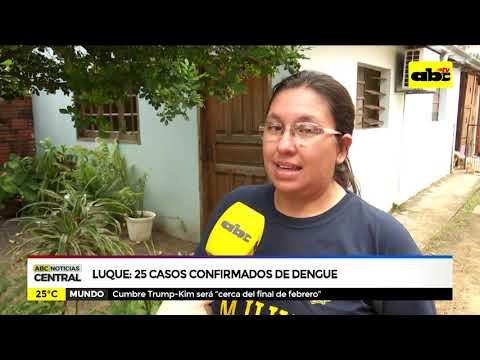 Luque: 25 casos confirmados de dengue