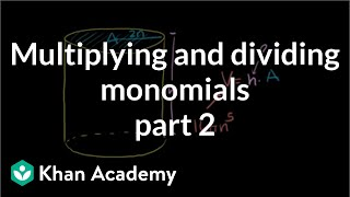 Multiplying and Dividing Monomials 2