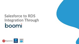 Salesforce To RDS Integration Through Dell Boomi | Salesforce Tutorial