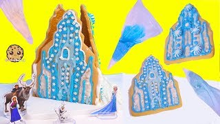 Disney Frozen Queen Elsa Cookie Ice Castle House - Food Craft Kit  Video