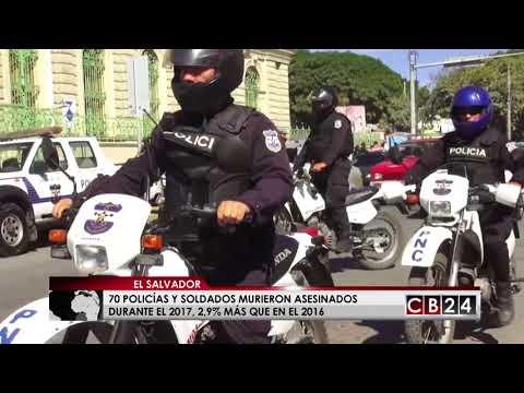 70 policias murieron asesinados en El Salvador durante el 2017