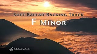 Emotional Soft Ballad Guitar Backing Track (F Minor)