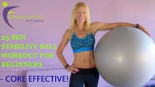STABILITY BALL WORKOUT FOR BEGINNERS! - 25 Minutes by Eye See Digital