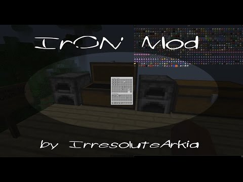 Minecraft Mod Review| IrON MOD - NEW BLOCKS, ORE, AND ITEMS!