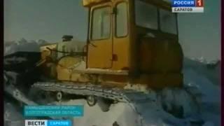 Занесенная трасса Саратов-Волгоград