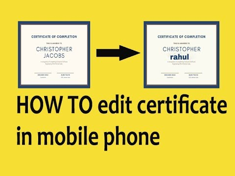 How to edit certificate and document in android phone. - YouTube