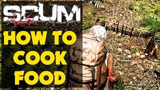 Scum -  How To Cook Food - Scum Starter Guide (New Survival Game)