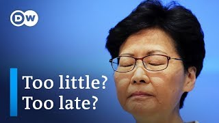 Will Hong Kong leader Carrie Lam's new apology move protesters? | DW News