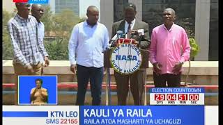 Kinara wa NASA Raila Odinga atoa madai yakuwa IEBC na Safaricom walikula njama kwa uchaguzi mkuu