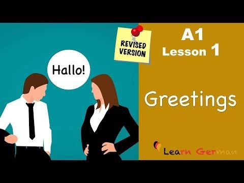 A1 - Lesson 1 | Begrüßungen | German for beginners | Learn German