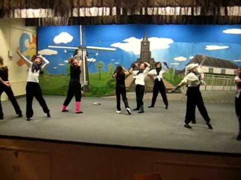Oefenen showdans Beugen