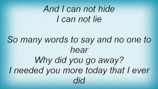 Face To Face - You Lied Lyrics