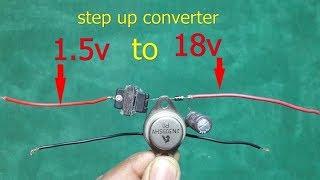 Download Video Make 1.5v to 18v stepup converter ,easy at home MP3 3GP MP4